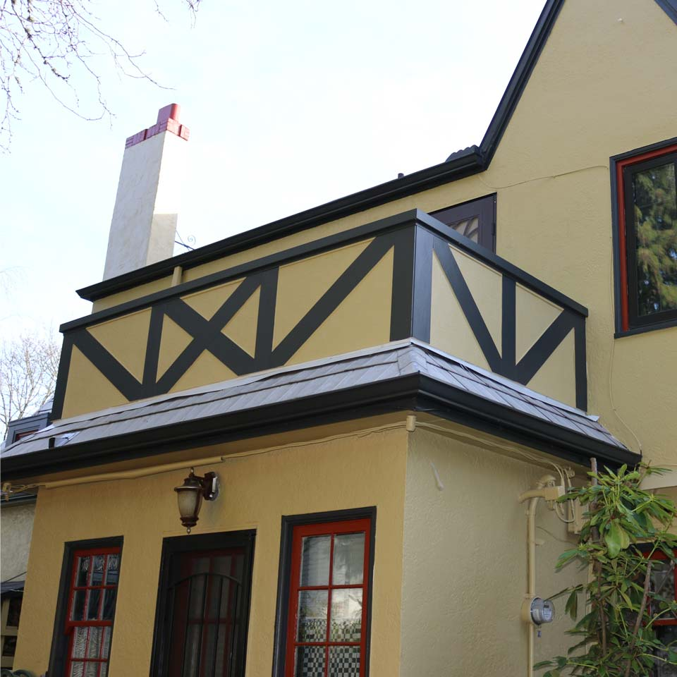 Contrasting Exterior House Paint